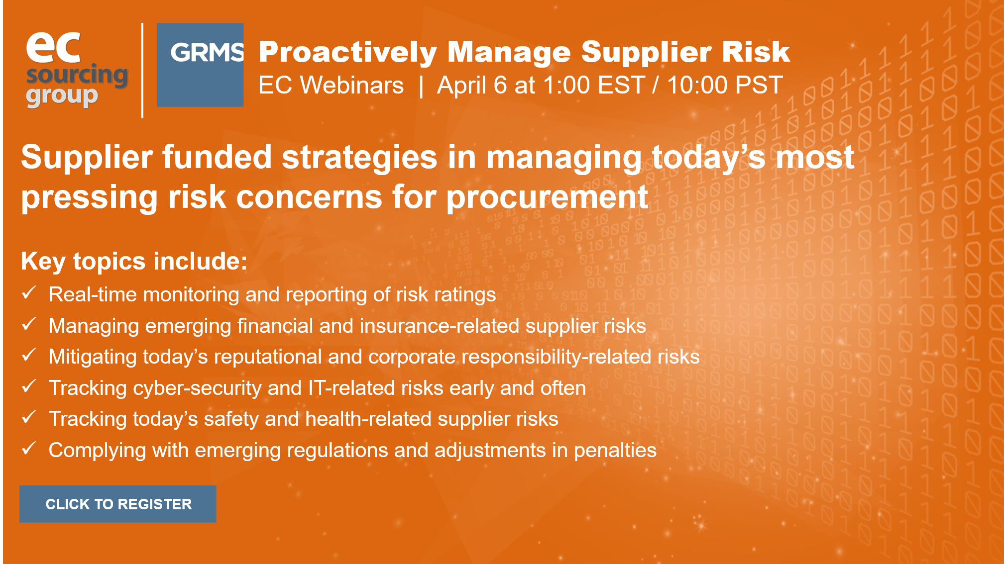 Proactively manage supplier risk